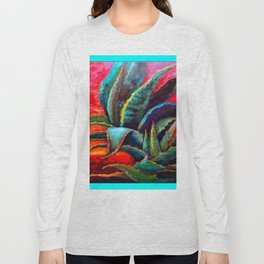 WESTERN DESERT BLUE AGAVE Long Sleeve T-shirt