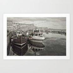 Seahouses Harbour Art Print
