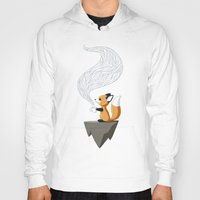 sad Hoodies featuring Fox Tea by Freeminds