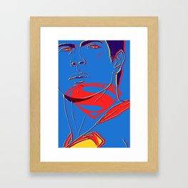 S U P E R M A N (BvS) Framed Art Print