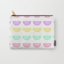 Pastel Citrus Pattern Carry-All Pouch