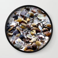 shells Wall Clocks featuring Shells by Anne Seltmann