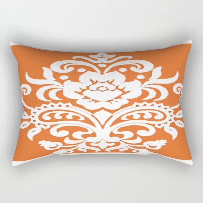 Damask on Peach Rectangular Pillow