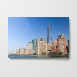 One World Trade Center from Hudson River Metal Print