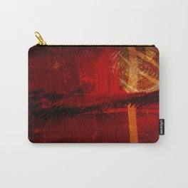 Abstract Red Light Carry-All Pouch