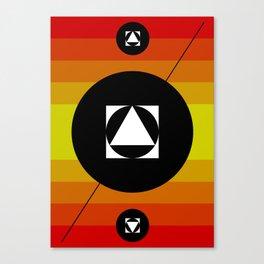 Hot Lights of Symmetry Canvas Print