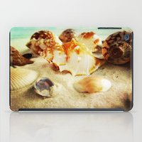 shell iPad Cases featuring Shell by brushnpaper