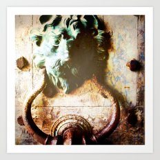 Knock First! Art Print