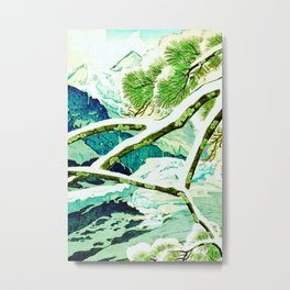 The Winter Green Metal Print