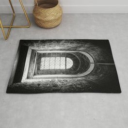 Beautiful light through an Old Window | London Tower, England | Black & White | Travel Photography  Rug