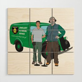 Russell & Hugh Jewellery Retrieval Service - DMDC - Detectorists Wood Wall Art