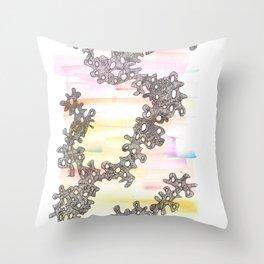 170321 Spring Watercolour 9 | Micron Pen Drawing Throw Pillow