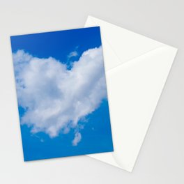 #Love is in the #Air a #cloud is #heart Stationery Cards