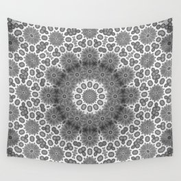 Magical black and white mandala 009 Wall Tapestry