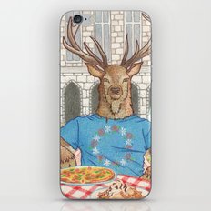 Everyday Animals - Mr Stag eats his lunch iPhone & iPod Skin