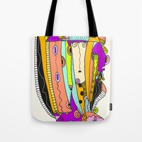 death cab for cutie Tote Bags featuring Cutie by Ingrid Padilla