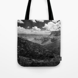 Dramatic Cloudy Mountain View at Lost Mine Trail, Big Bend Tote Bag