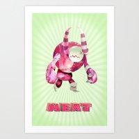 Green Meat Art Print