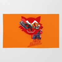 rocket raccoon Area & Throw Rugs featuring Rocket Raccoon by Markusian
