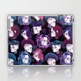 Skull Hair Pattern Laptop & iPad Skin