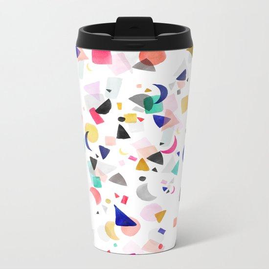 Party Confetti Metal Travel Mug