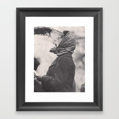 Human Water Fountain Framed Art Print