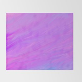 A Delightful Mix - Purple/Blue/Pink Throw Blanket