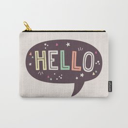 Hello Speech Bubble Carry-All Pouch