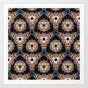 Till All Are One - Hexagonal Abstract Repeating Pattern by rmlstudios