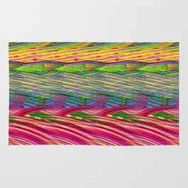 Rainbow Waves  #society6 #decor #buyart Rug