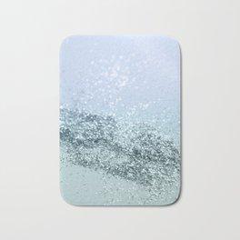 Light Seafoam Light Blue Glitter #1 #shiny #decor #art #society6 Bath Mat