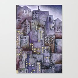 City (from original acrylic painting) Canvas Print
