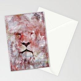Watercolor Lion Vintage Africa Illustration Stationery Cards