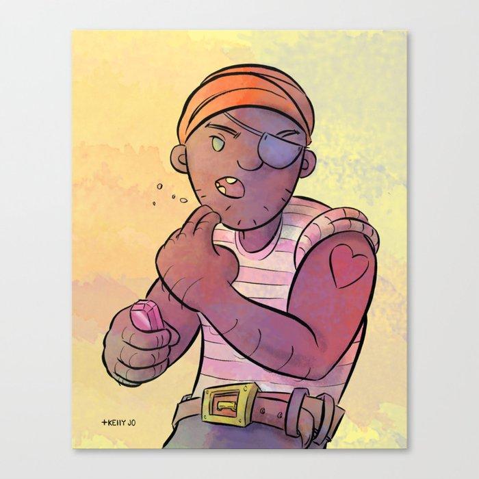 Stowaway Pirate Canvas Print