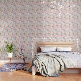 Letter A Geometric Shapes in Warm Colors Wallpaper