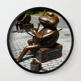 Frog's Fishing Wall Clock