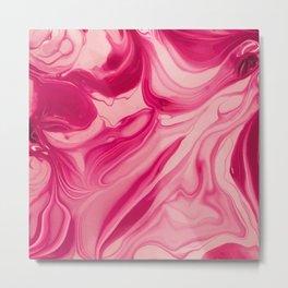 Pink Marble I Metal Print