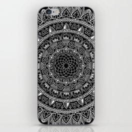 Black and White Geometric Mandala iPhone Skin