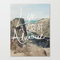 adventure Canvas Prints featuring Great Adventure by Leah Flores