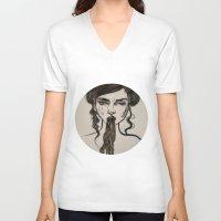 ursula V-neck T-shirts featuring Ursula by Shalehound
