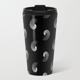 Nautilus Pattern on Black Travel Mug