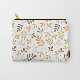Assorted Leaf Silhouettes Ptn Retro Colors Carry-All Pouch