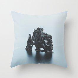 Hvitserkur, Iceland Throw Pillow