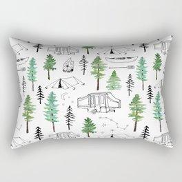 Camping and Trees Rectangular Pillow