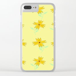 yellow vintage feel Clear iPhone Case