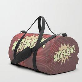 Mild profanity RETRO RED / Cartoonish anger Duffle Bag