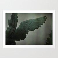 angel wings Art Prints featuring angel wings by heartonfire( Kayla Brooke)