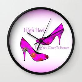 High Heel Heaven Wall Clock
