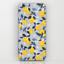 Blue lemon fantasy iPhone Skin