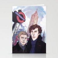 johnlock Stationery Cards featuring London Johnlock by enerjax